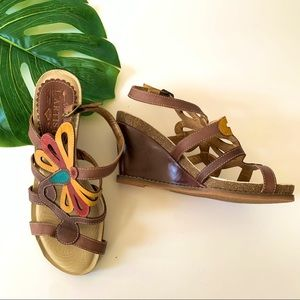 L'artiste cutout butterfly insect wedge sandals